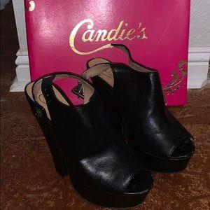 Candies Capapri Black Chunky Hees